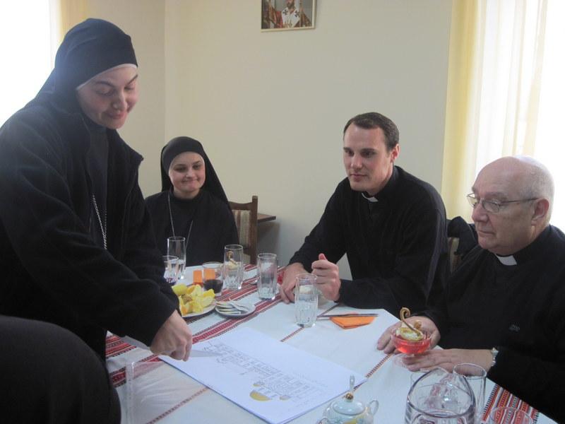 благословення проекту церкви Засновником монастиря