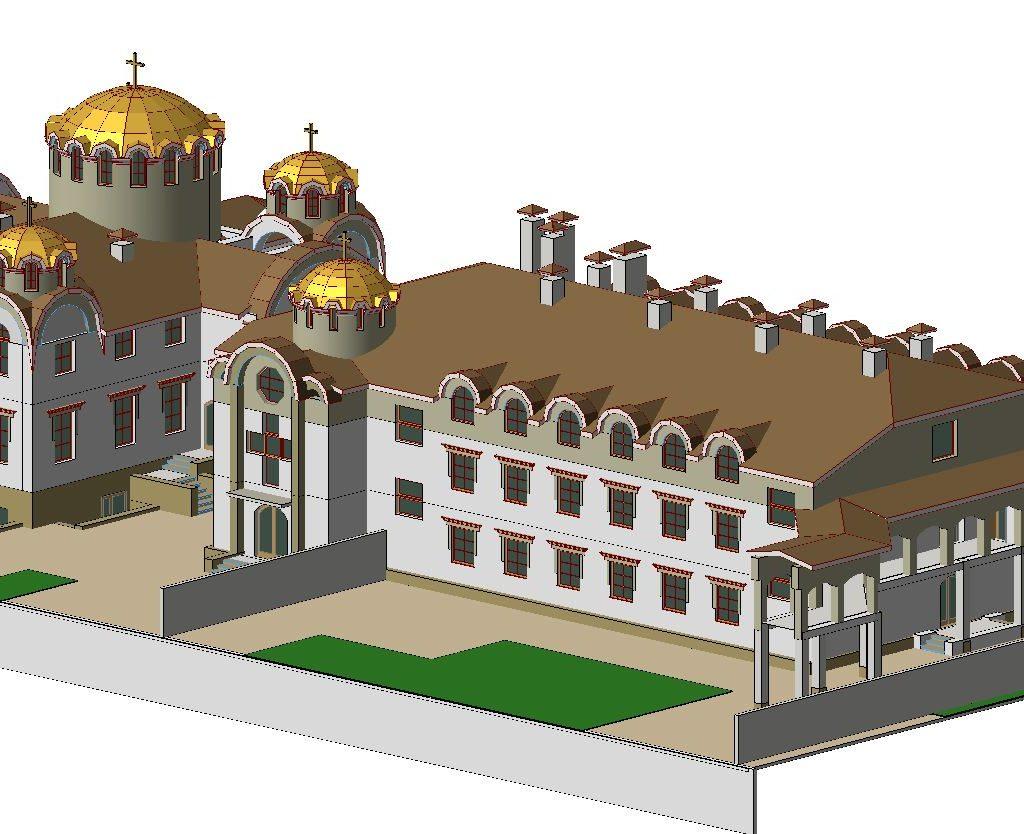 проект майтунього монастиря і церкви 1